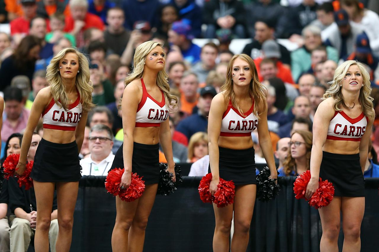 Louisville cardinals cheerleaders are not