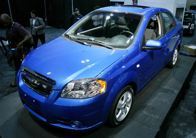 The 2007 Chevrolet Aveo debuts at the 2006 Los Angeles Auto Show in Los Angeles