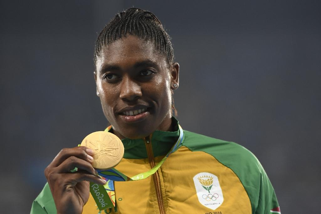"Caster Semenya, the crowd's favourite, got the biggest applause for her 800-metres victory, with chants ""Caster, Caster"" (AFP Photo/Eric Feferberg)"
