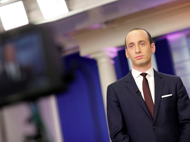 Stephen Miller: 'Steve Bannon has no role whatsoever in drafting executive orders'