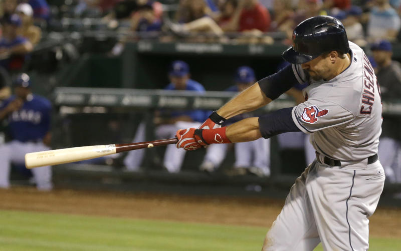 Indians' Chisenhall giving bat to Hall of Fame