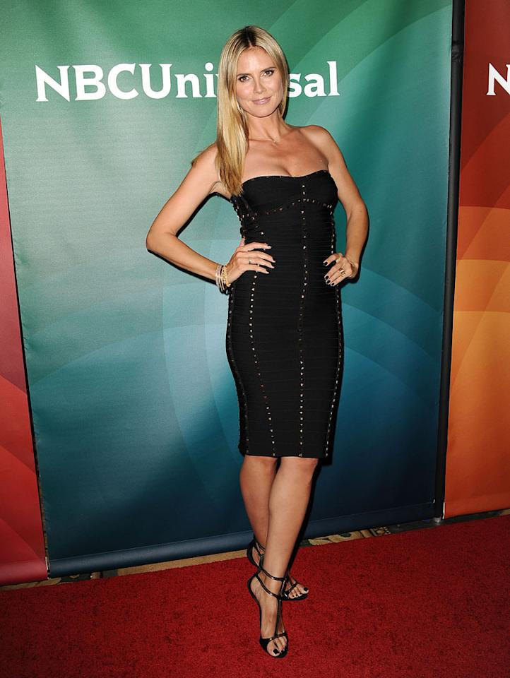 """Heidi Klum (""""America's Got Talent"""") attends the 2013 NBC Universal Summer Press Day held at The Langham Huntington Hotel and Spa on April 22, 2013 in Pasadena, California."""