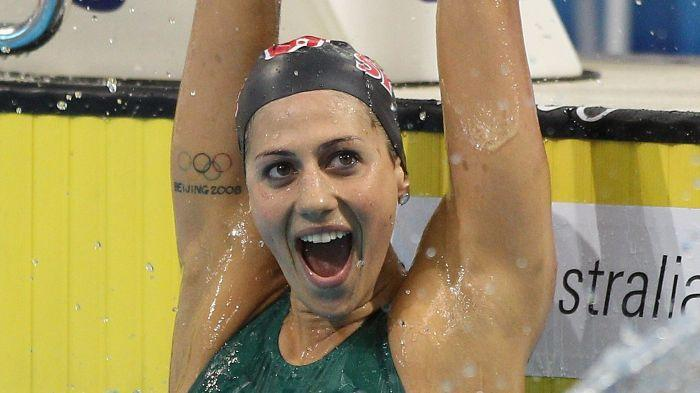 London calling ... Stephanie Rice dominated the final to win by four seconds