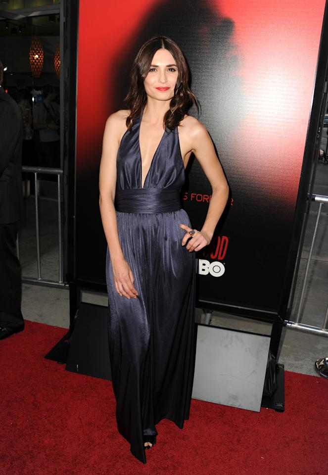 """HOLLYWOOD, CA - JUNE 11:  Actress Karolina Wydra attends the premiere of HBO's """"True Blood"""" at ArcLight Cinemas Cinerama Dome on June 11, 2013 in Hollywood, California.  (Photo by Kevin Winter/Getty Images)"""