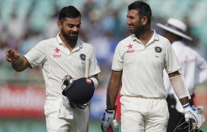<p>Dharamsala, March 23 (Cricketnmore) Ahead of the deciding fourth and final cricket Test against Australia, starting on Saturday, Indian middle order mainstay batsman Cheteshwar Pujara on Thursday said the mind games played by the Kangaroos won't work with the side led by Virat Kohli.</p>