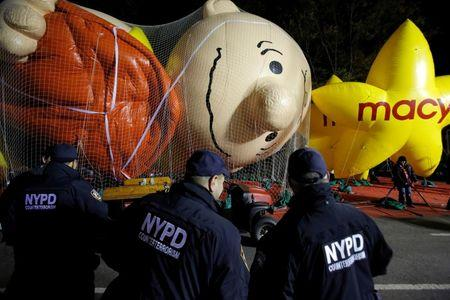 NY using sand-filled trucks to protect Thanksgiving parade