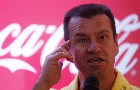 Former soccer player Brazil's Dunga attends news conference in Rio de Janeiro