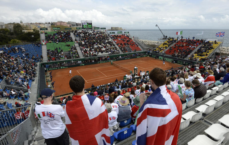 Fognini gives Italy lead over Britain in Davis Cup