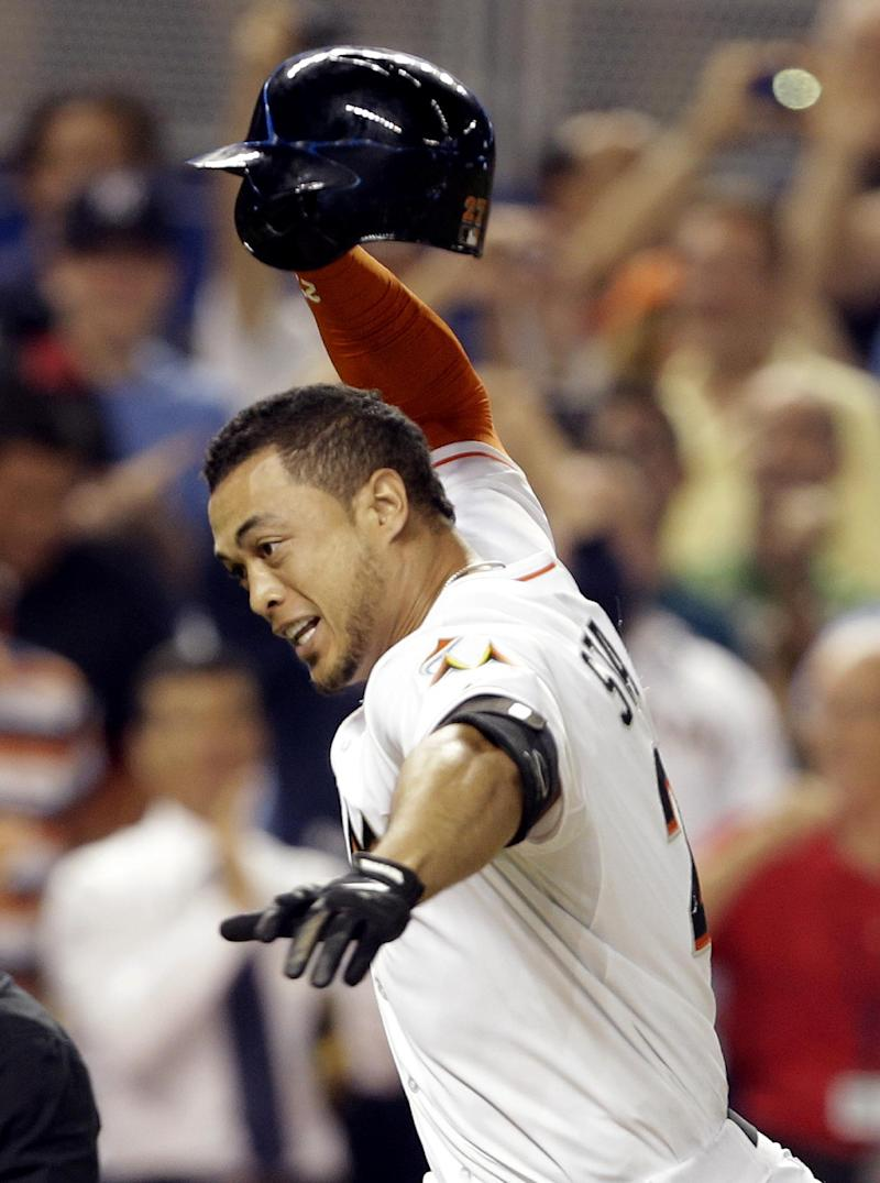 Marlins slugger Stanton is off to his best yet