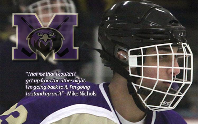 Monroe (N.J.) High senior forward Michael Nichols suffered a broken neck during a game -- MonroeFalconsHockey.com