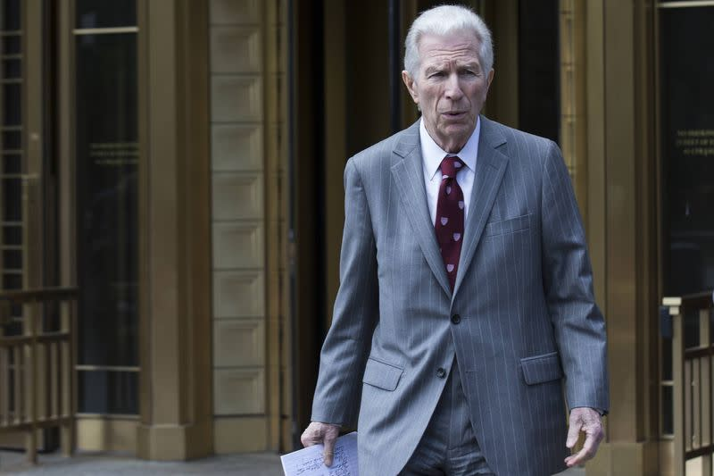 New York financial trial lawyer Pollack exits the U.S. District Court for the Southern District of New York in Lower Manhattan