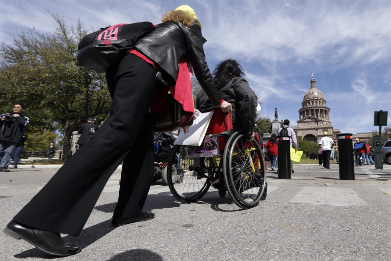 Protesters in Texas demand Medicaid expansion