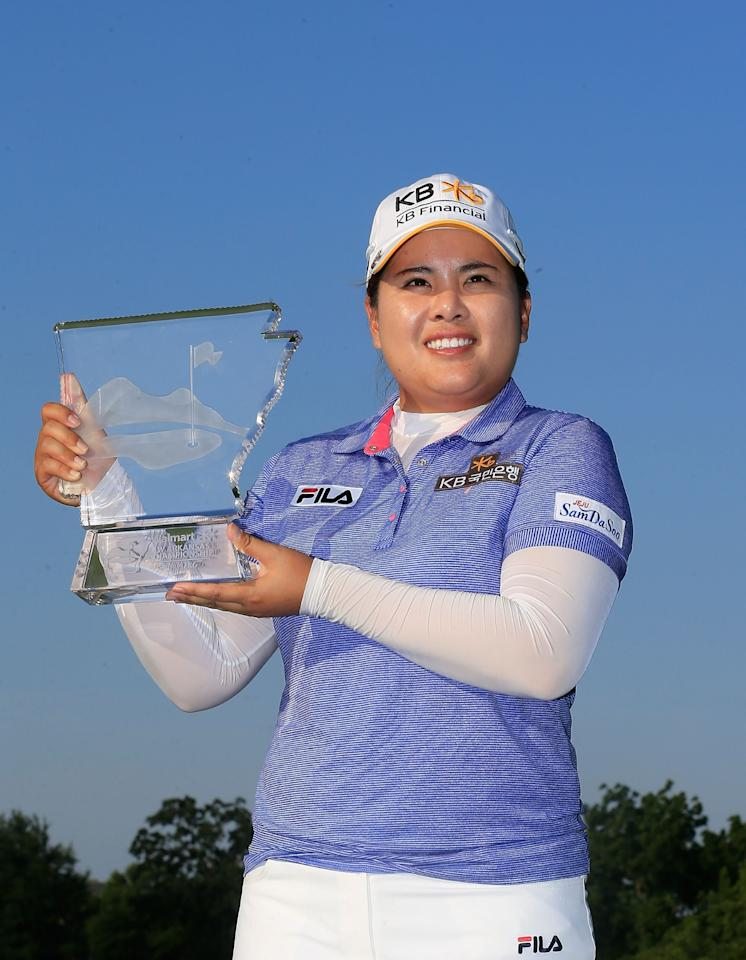 ROGERS, AR - JUNE 23: Inbee Park of South Korea poses with the trophy after winning the Walmart NW Arkansas Championship Presented by P&G at the Pinnacle Country Club on June 23, 2013 in Rogers, Arkansas. (Photo by Sam Greenwood/Getty Images)