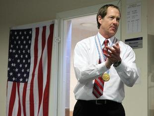 U.S. World Juniors coach Phil Housley addresses his team after their gold medal performance -- USA Hockey