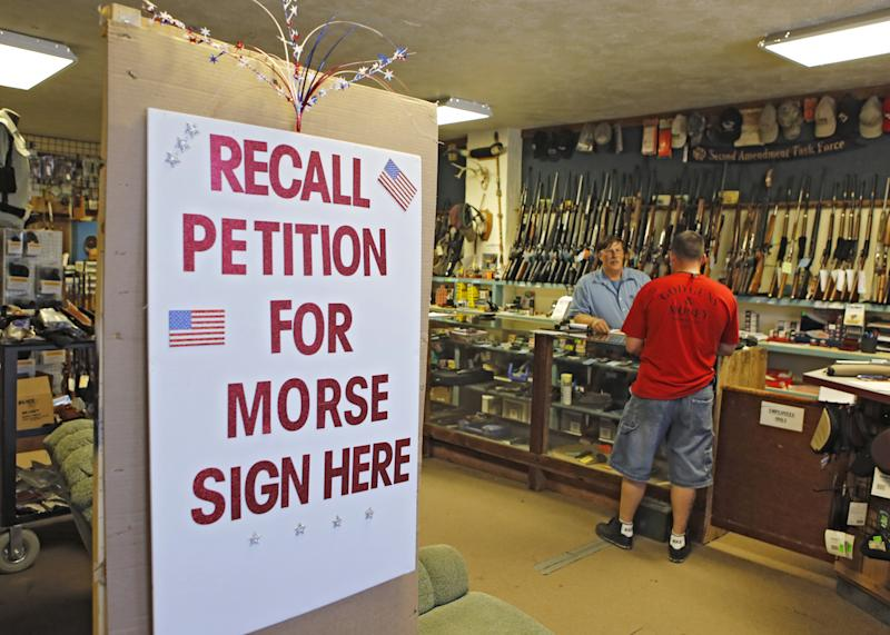 Gun control supporters facing recall bids in Colo.