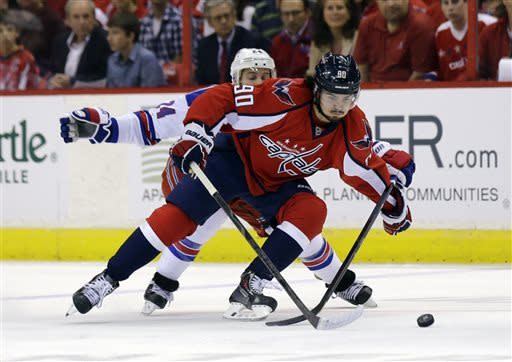 Capitals top Rangers 2-1 in OT, take series lead