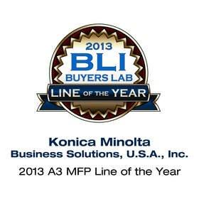 "Konica Minolta Receives 2013 ""A3 MFP Line of the Year"" Award From BLI"