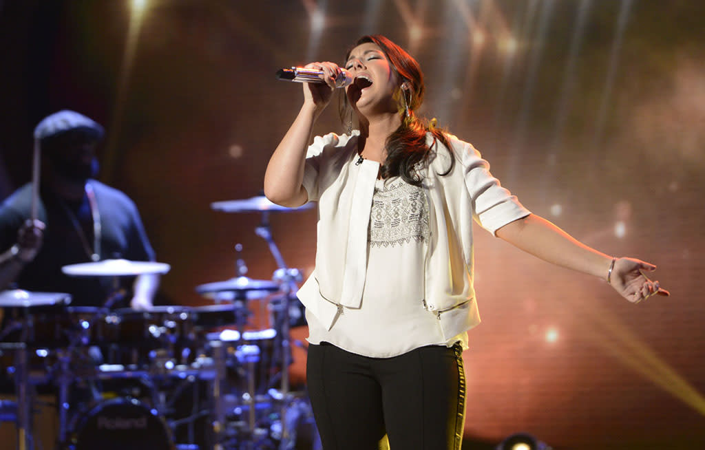 """Kree Harrison performs """"She Talks to Angels"""" on the Wednesday, April 17 episode of """"American Idol."""""""