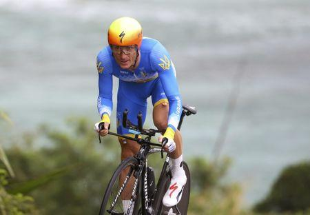 2016 Rio Olympics - Cycling Road - Final - Men's Individual Time Trial - Pontal - Rio de Janeiro, Brazil - 10/08/2016. Andriy Grivko (UKR) of Ukraine competes. REUTERS/Paul Hanna