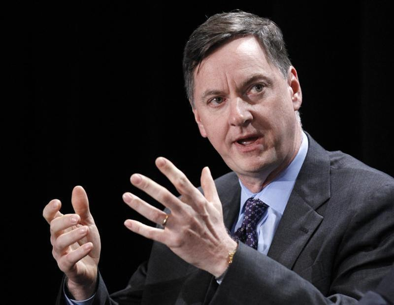 """Charles Evans, President and CEO, Federal Reserve Bank of Chicago, takes part in a panel discussion titled """"Twist and Shout: The Limits of U.S. Monetary Policy"""" at the Milken Institute Global Conference in Beverly Hills, California"""