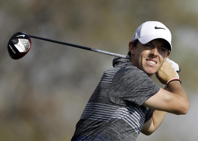 Mickelson surges in Abu Dhabi; McIlroy penalized