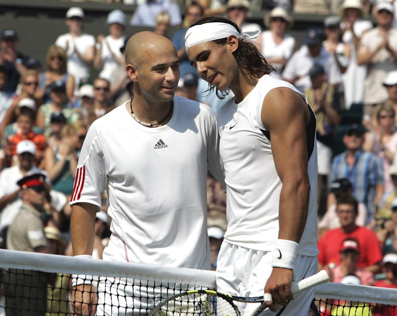Agassi says Nadal is greatest ever tennis player