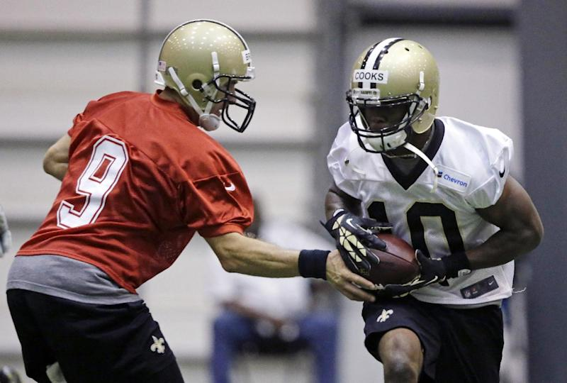 Saints rookie WR Cooks back on the field