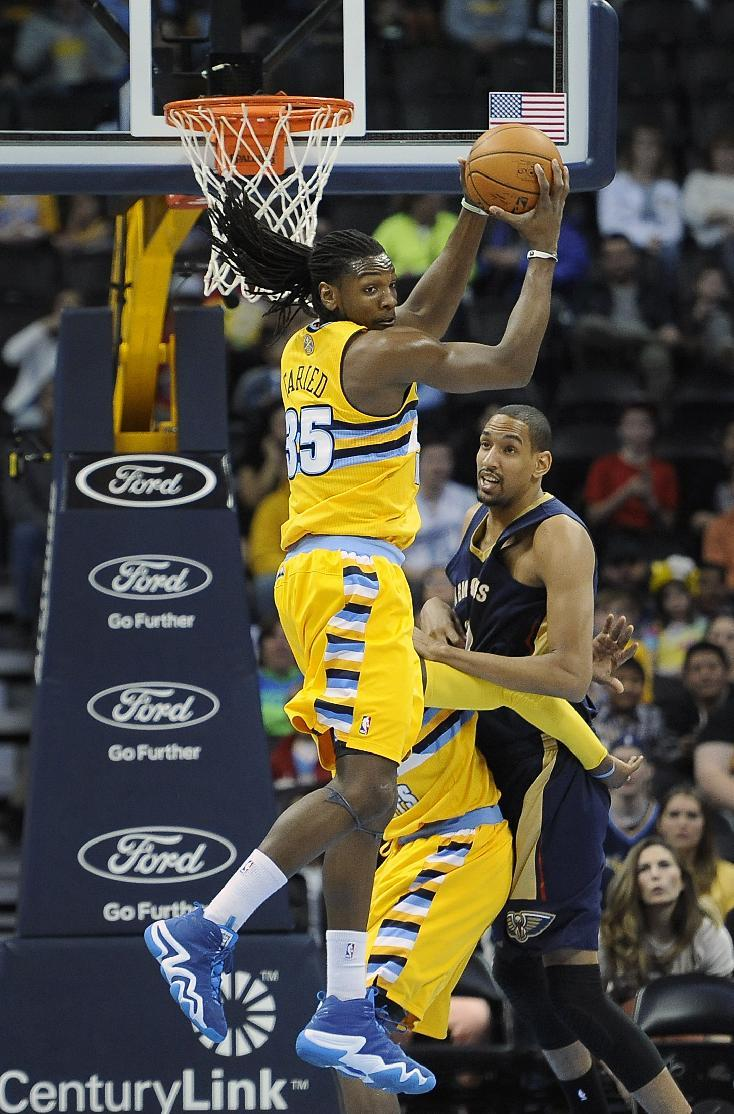 Faried leads Nuggets' 137-107 rout of Pelicans
