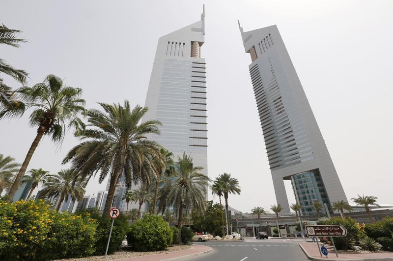 The Emirates Towers, which house the headquarters of Dubai Group, are seen on Sheikh Zayed road in Dubai