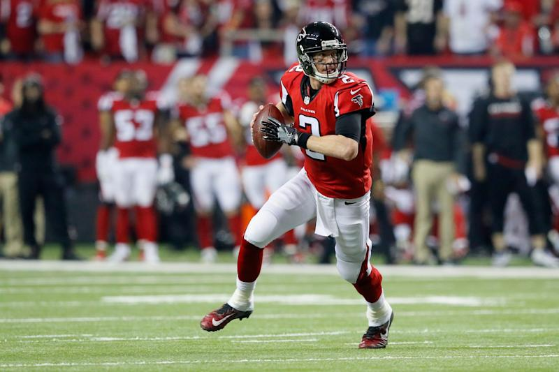Quarterback Matt Ryan turned in a great performance as the Atlanta Falcons advanced to the NFC championship game. (Getty Images)
