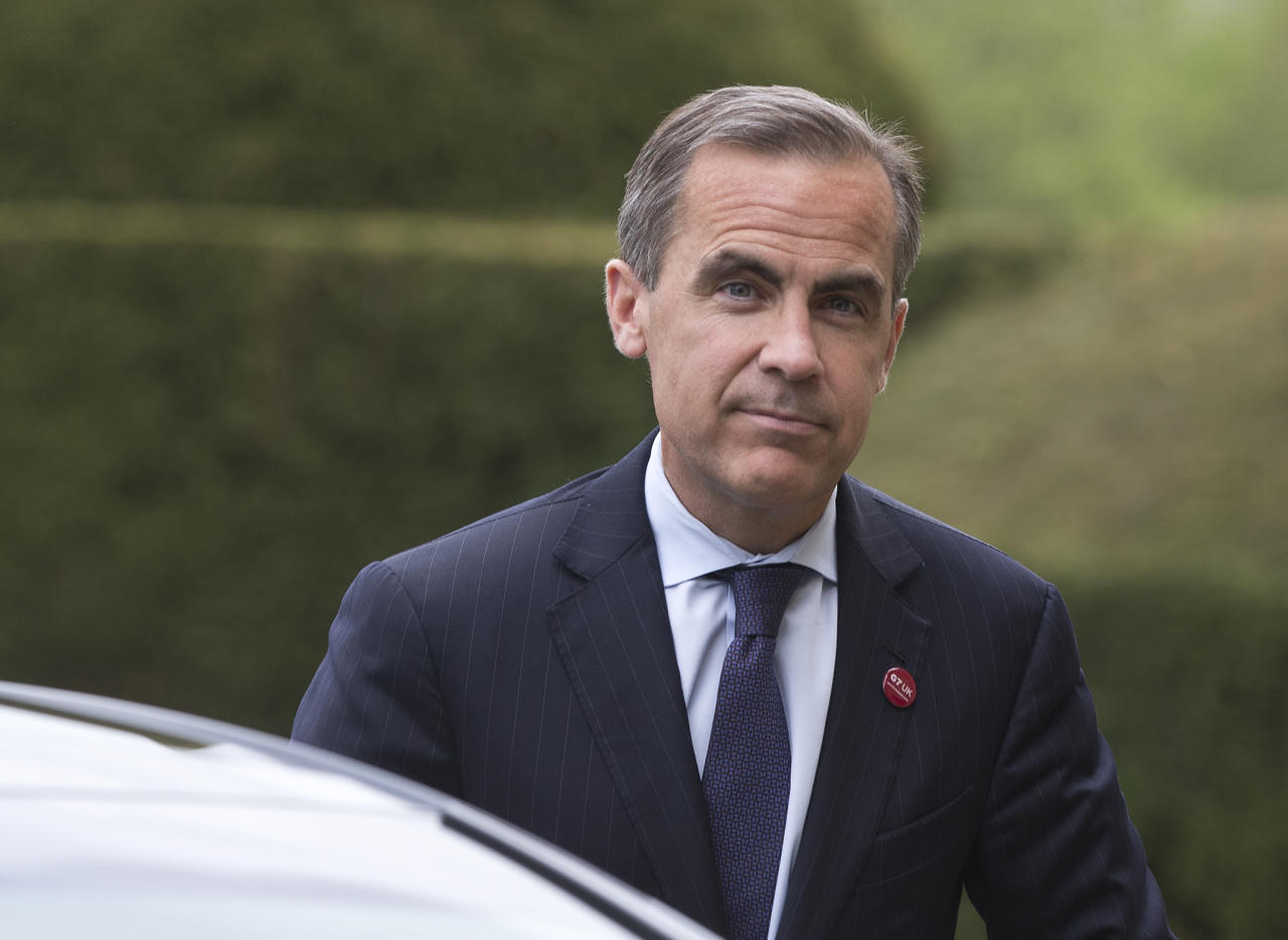 Mark Carney Governor of the Bank of Canada arrives at the G7 finance ministers and central bank governors meeting in Aylesbury.