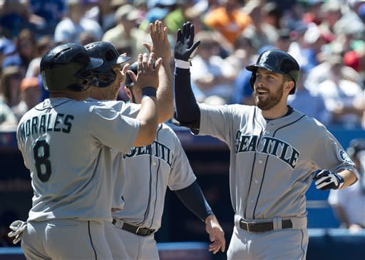 Ackley hits grand slam, Mariners top Blue Jays 8-1
