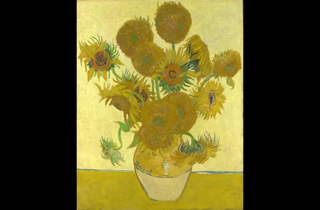 """""""Vase with Fifteen Sunflowers"""" by Vincent van Gogh, $39.7 million."""