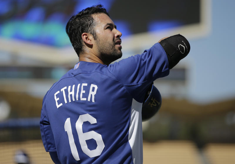 CF Ethier in Dodgers' lineup for Game 1 of NLCS