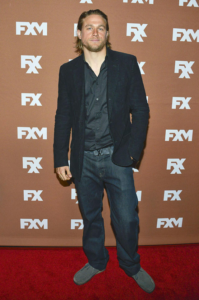 Charlie Hunnam attends the 2013 FX Upfront Bowling Event at Luxe at Lucky Strike Lanes on March 28, 2013 in New York City.