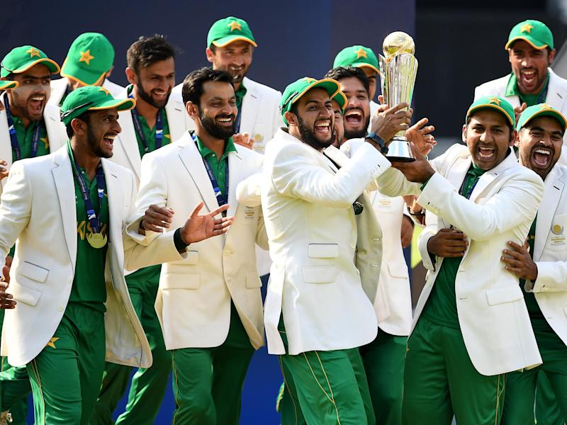 Pakistan's players stunned India in the final of the Champions Trophy: Getty