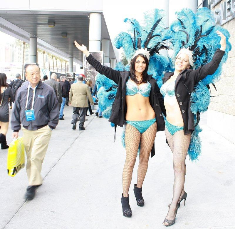CES show girl showgirls