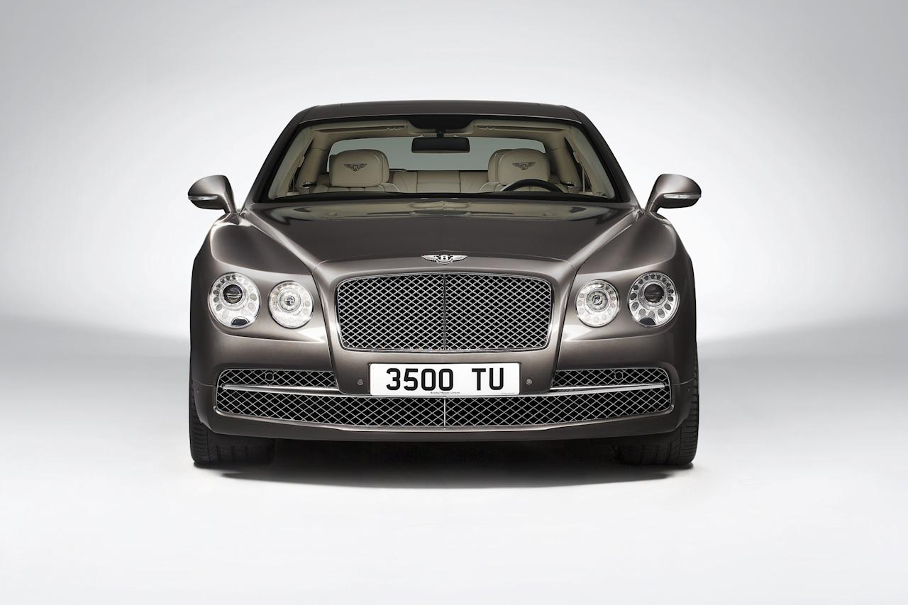 "In the modern Bentley tradition, power is delivered to the road via all-wheel drive with a 40:60 rear-biased torque split for a sure-footed, engaging drive in all road and weather conditions. The front fenders feature a striking new wing vent complete with an elegant Bentley ""B"" motif. From here, an additional feature line forms a sharply defined edge running from the front wheel all the way to the rear bumper, underlining the shape's dynamic character."