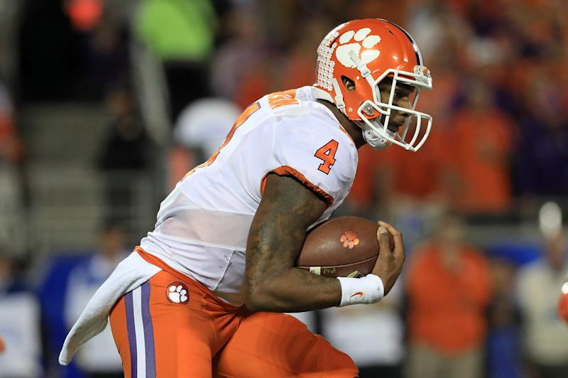 Clemson QB Deshaun Watson still has doubters but should be highly regarded in the 2017 NFL draft. (Getty Images)