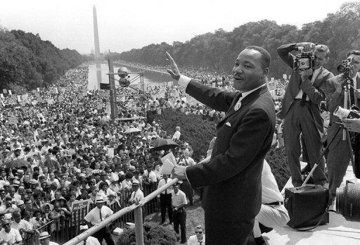 "<p>US civil rights leader Martin Luther King, Jr., waves to supporters from the steps of the Lincoln Memorial on 28 August, 1963 during the ""March on Washington"" where King delivered his famous ""I Have a Dream"" speech. It's the most memorable line from one of history's greatest speeches, yet civil rights leader Martin Luther King never planned to say ""I have a dream"".</p>"