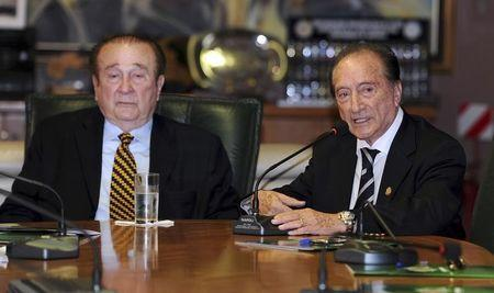 Acting President of CONMEBOL Figueredo speaks during a CONMEBOL's executive committee meeting, in Asuncion