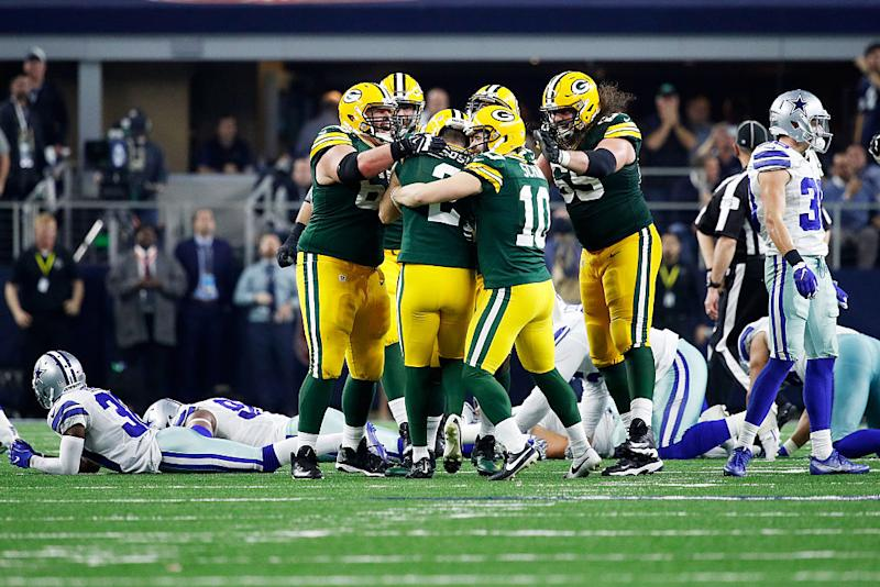 The Packers' win over the Cowboys drew 48.5 million viewers. (Getty)