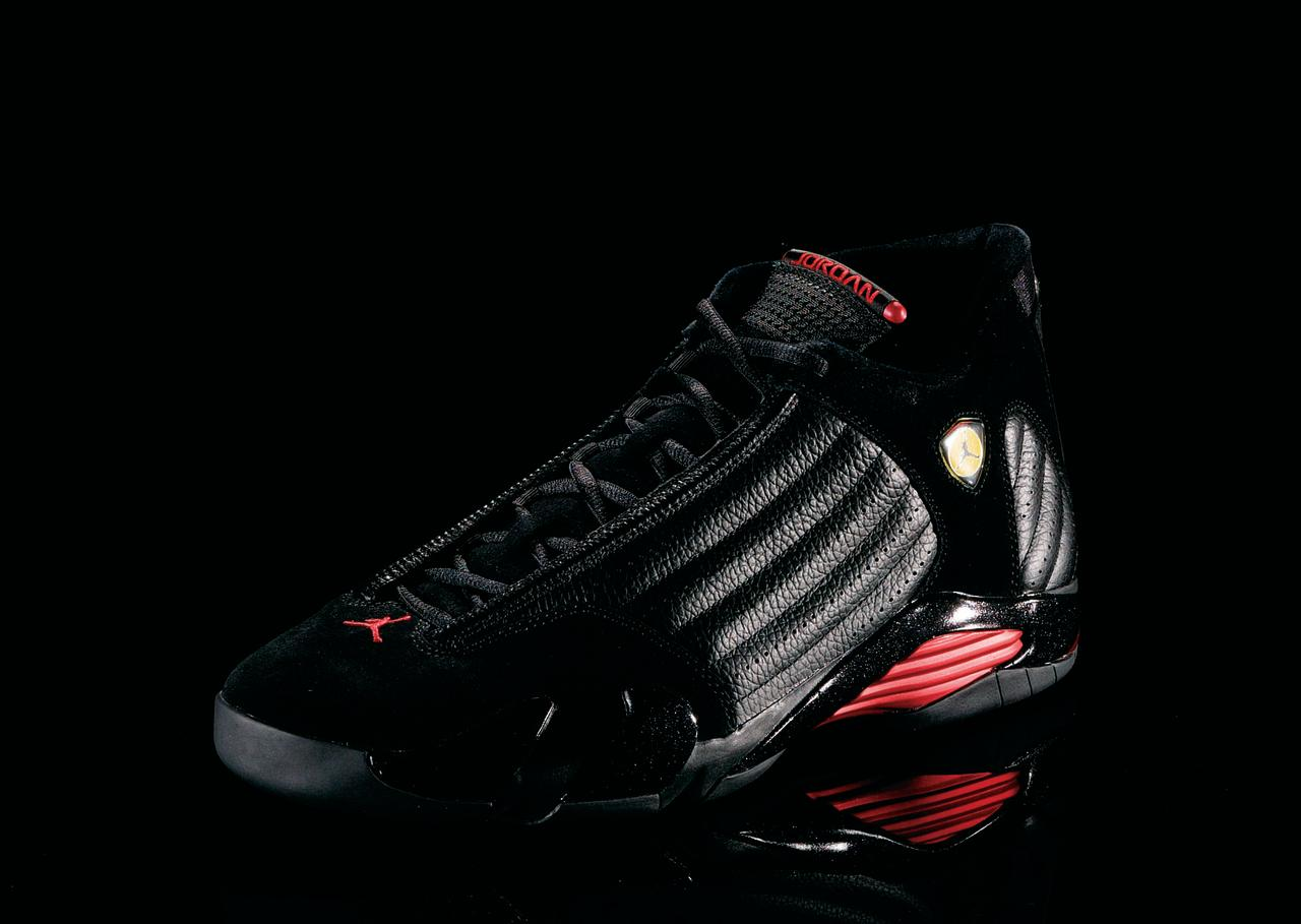 """<p>Air Jordan XIV - """"Race Ready"""" (1999): Inspired by MJ's Ferrari, this was the shoe he wore when he hit """"The Shot II"""" against the Utah Jazz. (Photo Courtesy of Nike)</p>"""
