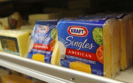 Kraft food products are displayed in a market in San Francisco, California