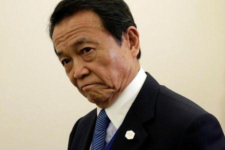 Japan won't resort to 'helicopter money' -Finance Minister Aso