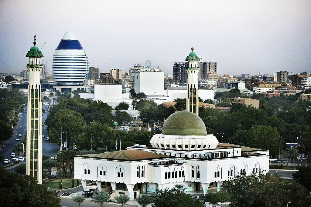 <p>KHARTOUM, SUDAN: A general view of the city center and the As Sayed Ali Mosque in Khartoum, Sudan. Khartoum, the capital of Sudan, lies at the point where both the Blue and the White Nile converge.</p>