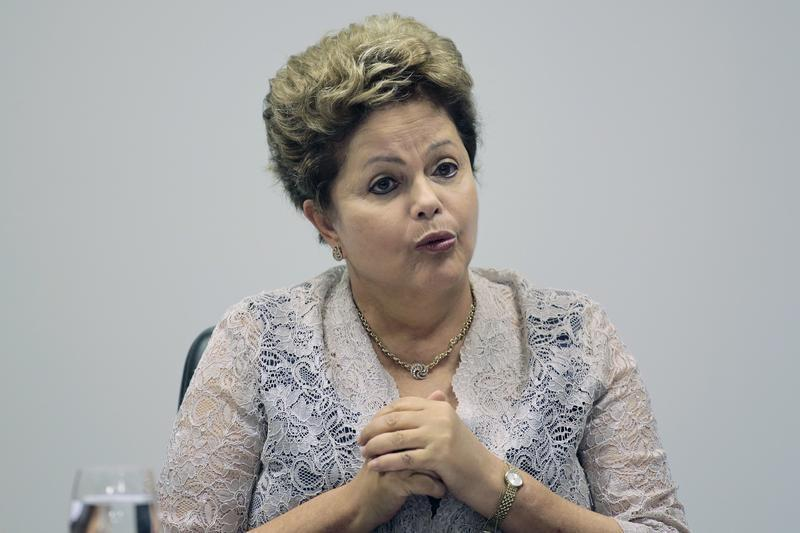 Brazil's President Dilma Rousseff speaks during the first meeting of the newly-formed CIASN, an interministerial committee for simplifying tax collection, at the Planalto Palace in Brasilia