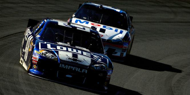 Jimmie Johnson's average finish at Dover is 8.9, way ahead of Tony Stewart and the other Chase contenders. (Getty Images)