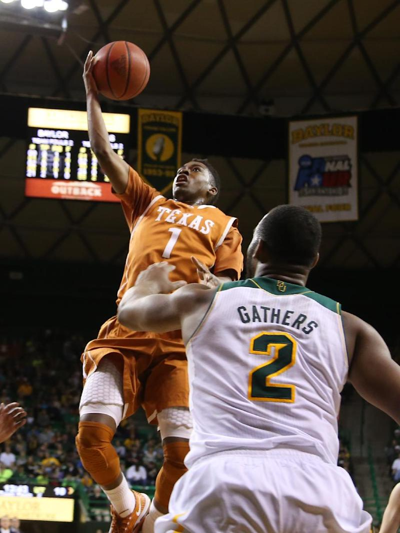 Texas' 5th win in a row, 74-60 at No. 24 Baylor