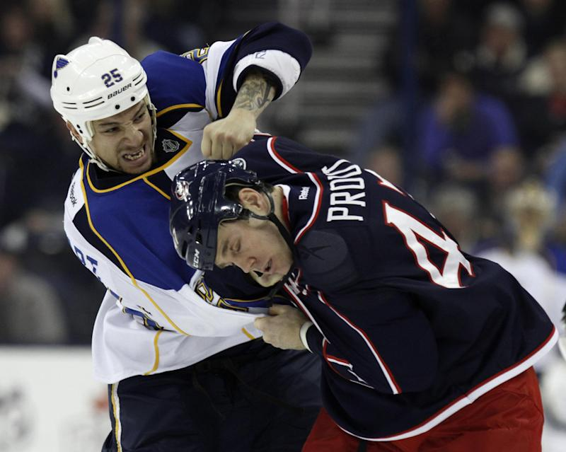 Backes scores in OT and Blues top Blue Jackets 4-3